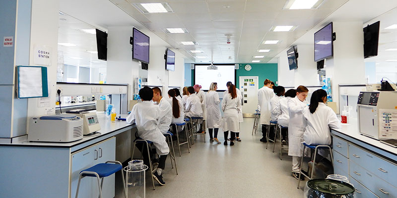 NCOP students in a science lab