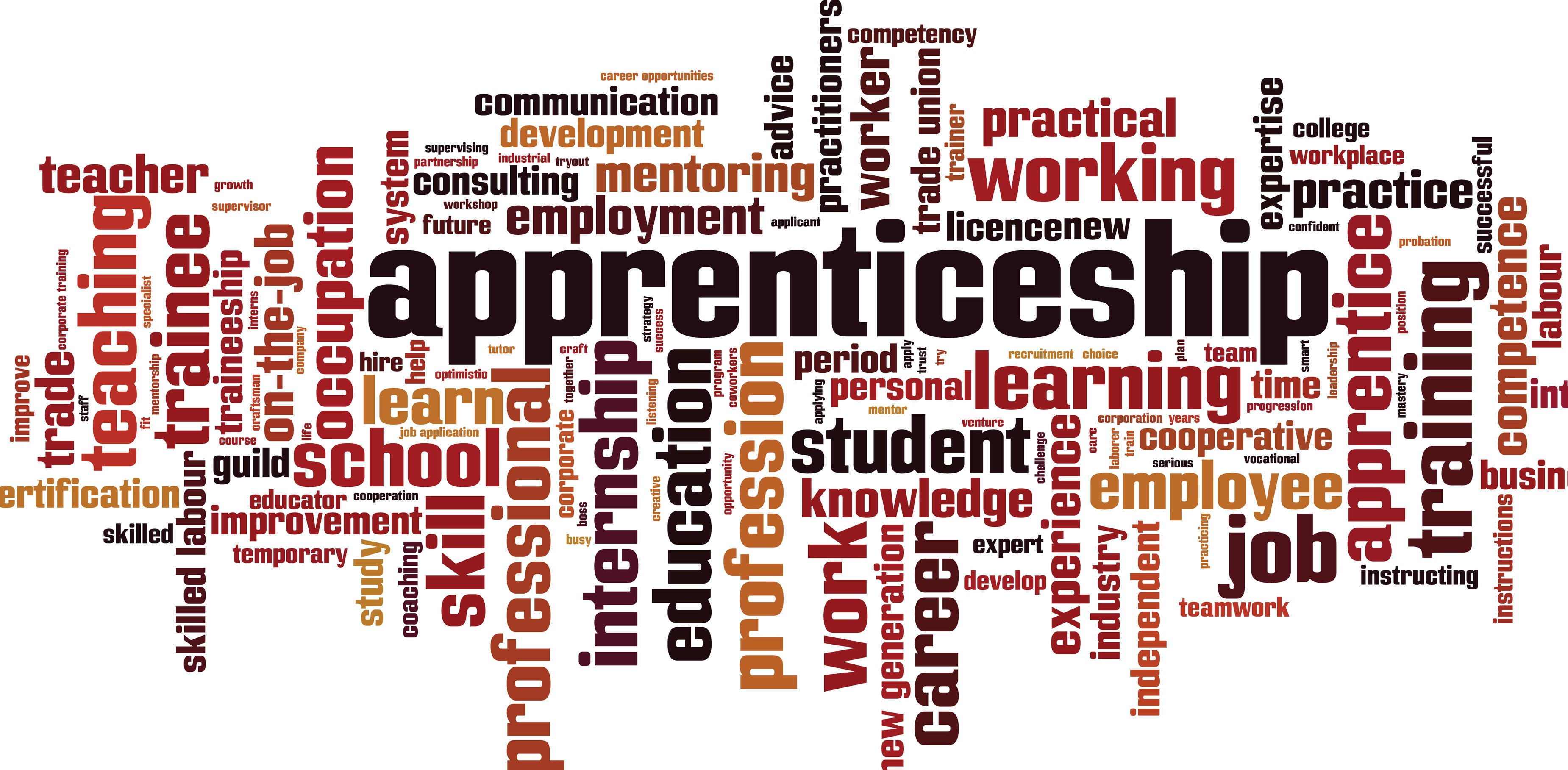 Apprenticeships word cloud