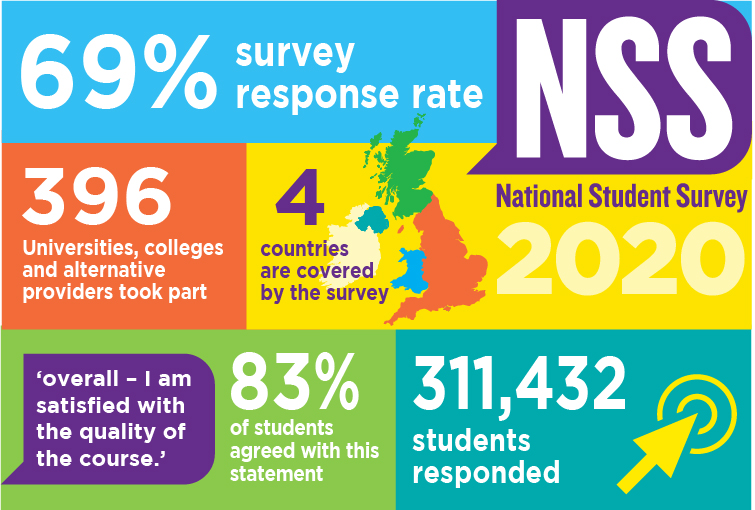 Infographic with key facts about the 2020 NSS